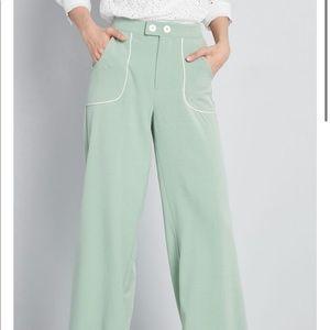 ModCloth Green Wide Legged Pants
